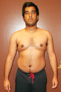 Push Fitness client, Shushank, before photo