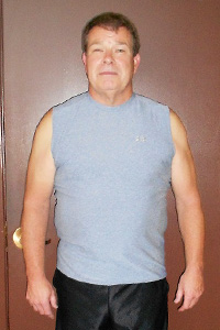 Push Fitness client John, before photo