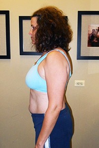 Push Fitness client Melanie, before photo