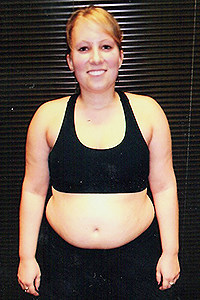 Push Fitness client, Julie, before photo