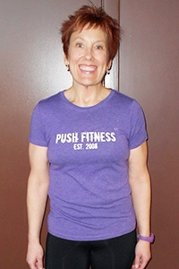 Push Fitness client, Sioux, after photo