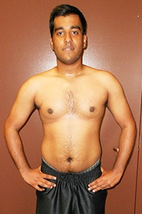 Push Fitness client, Shushank, after photo