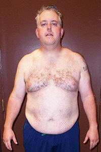 Push Fitness client Robert, before photo
